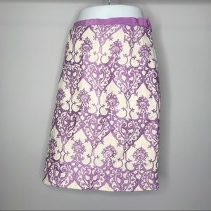 {Tracy Reese} Anthro Linen Embroid. Skirt with Bow